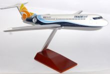 Fokker F-100 Trade Air Croatia Collectors Model Scale 1:100 Wood Stand E